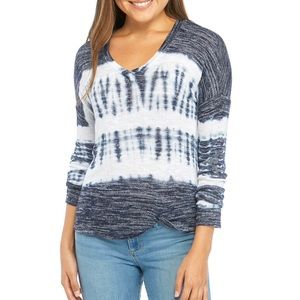 CHANCE OR FATE Junior's Tie Dye Twist Front Top